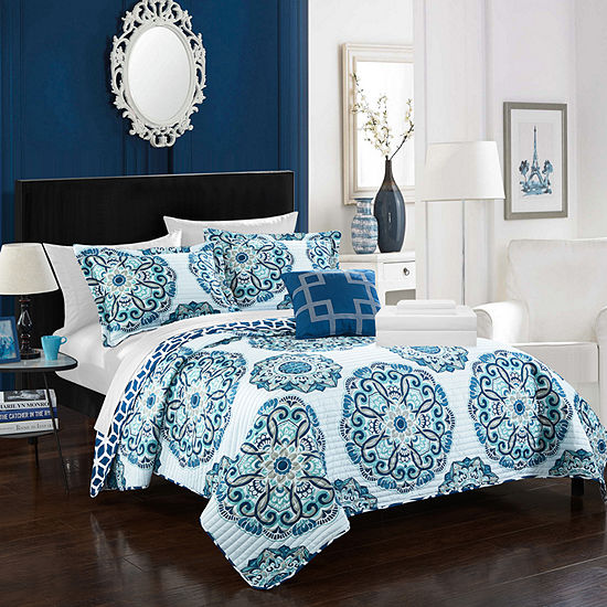 Chic Home Madrid 8-pc. Reversible Quilt Set