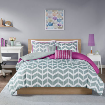 Intelligent Design Peyton Chevron Comforter Set