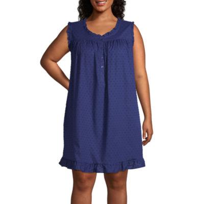 Adonna Womens Sleeveless Round Neck Nightgown