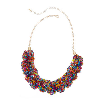 Mixit 4.2 Mixit Seedbead Womens Beaded Necklace