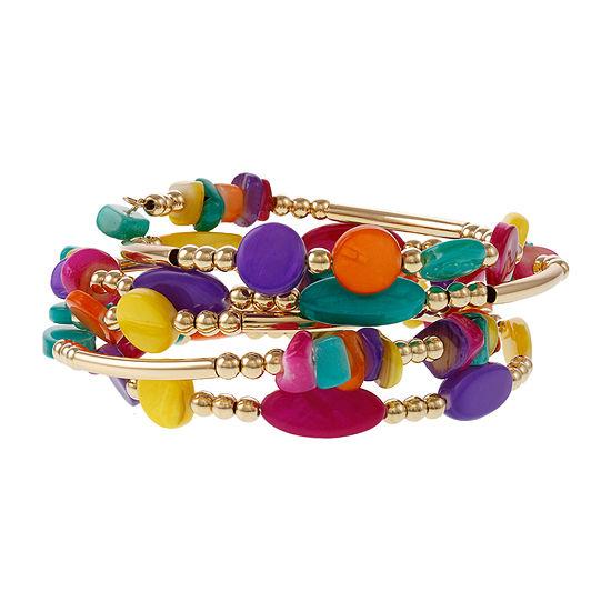 Mixit 4.2 Mixit Seedbead Gold Tone Beaded Bracelet