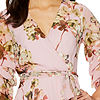 Danny & Nicole 3/4 Sleeve Floral Fit & Flare Dress