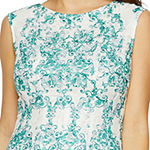 Danny & Nicole Sleeveless Medallion Fit & Flare Dress