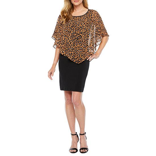 Alyx Popover Animal Print Sheath Dress
