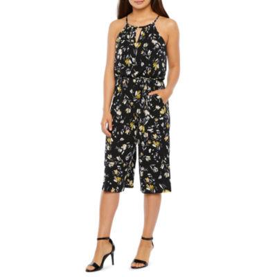London Style Sleeveless Jumpsuit-Petite