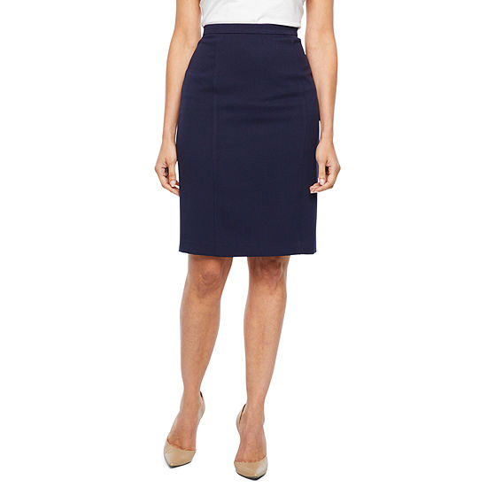 Black Label By Evan Picone Suit Skirt