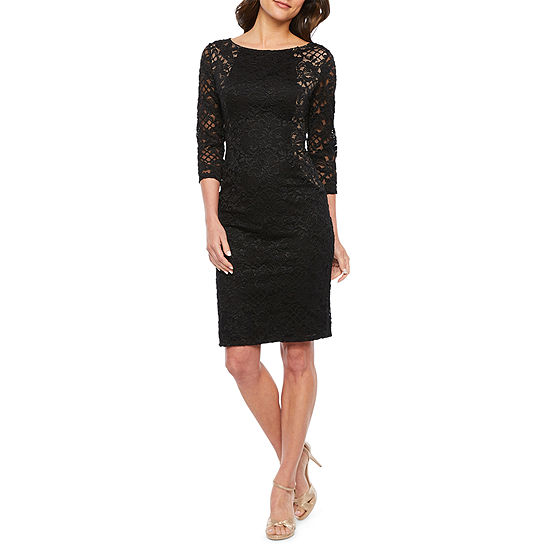 Blu Sage 3/4 Sleeve Lace Sheath Dress