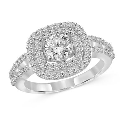 Womens 3 CT. T.W. White Cubic Zirconia Engagement Ring