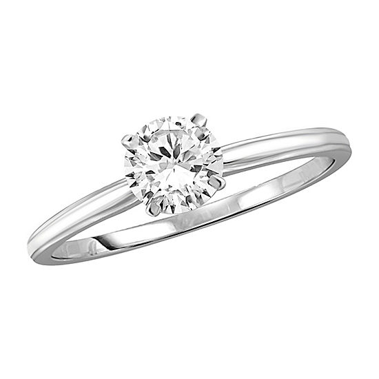 Womens 1/2 CT. T.W. White Cubic Zirconia Sterling Silver Promise Ring