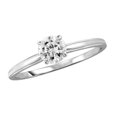 Womens 3/4 CT. T.W. White Cubic Zirconia Promise Ring