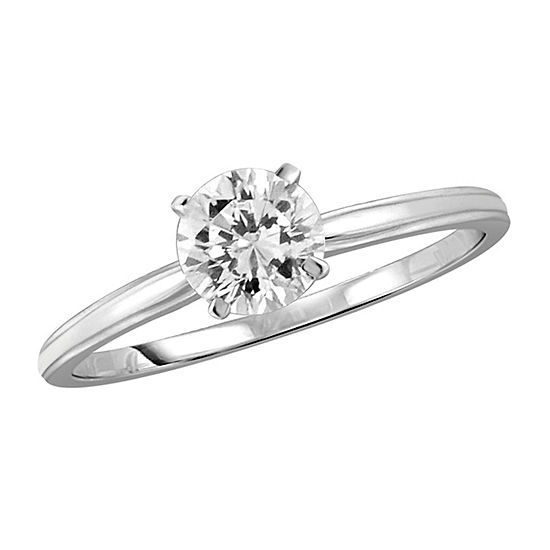 Womens 1 1/10 CT. T.W.  White Cubic Zirconia Sterling Silver Promise Ring
