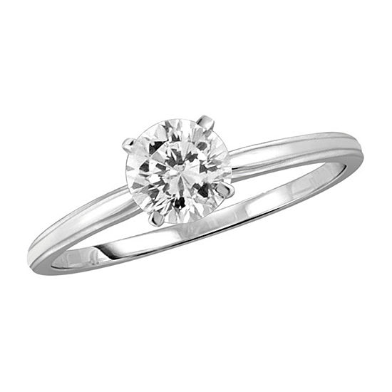 Womens 1 3/4 CT. T.W. White Cubic Zirconia Sterling Silver Promise Ring