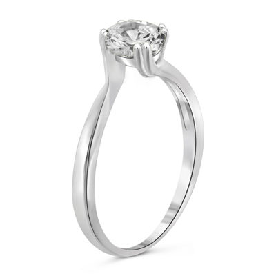 Womens 1 1/4 CT. T.W. White Cubic Zirconia Sterling Silver Promise Ring