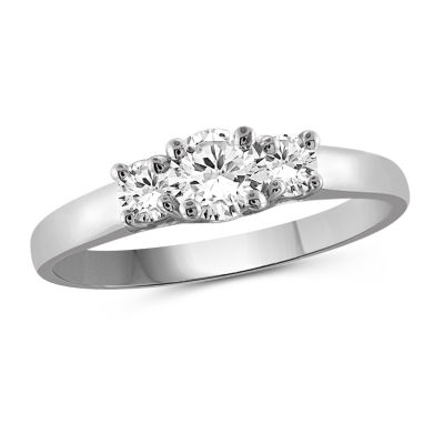 Womens 1 CT. T.W. White Cubic Zirconia 3-Stone Promise Ring