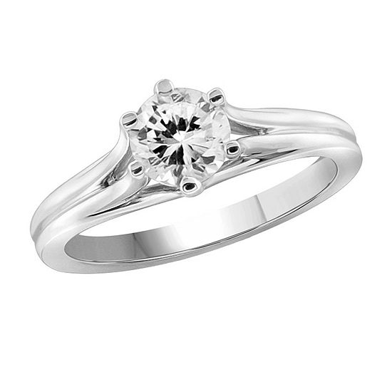Womens 1 1 3 Ct Tw White Cubic Zirconia Sterling Silver Promise Ring