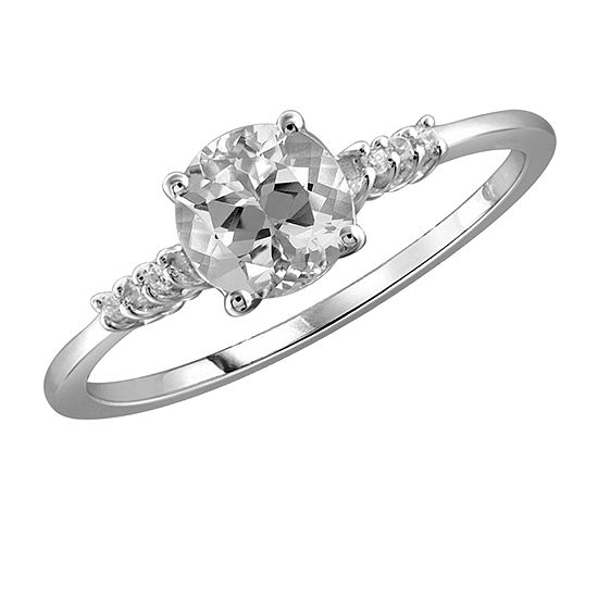 Womens 1 1/2 CT. T.W. White Cubic Zirconia Sterling Silver Promise Ring