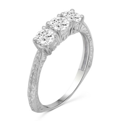Womens 2 CT. T.W. White Cubic Zirconia 3-Stone Promise Ring