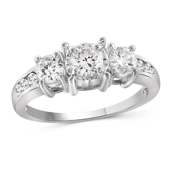 Womens 2 CT. T.W. White Cubic Zirconia Sterling Silver Promise Ring