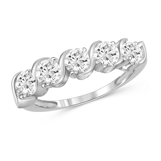 Womens 2 1/3 CT. T.W. White Cubic Zirconia Sterling Silver Promise Ring