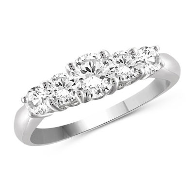 Womens 3 1/4 CT. T.W. White Cubic Zirconia Promise Ring