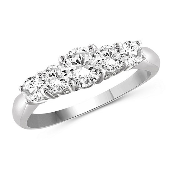 Womens 3 1/4 CT. T.W. White Cubic Zirconia Sterling Silver Promise Ring