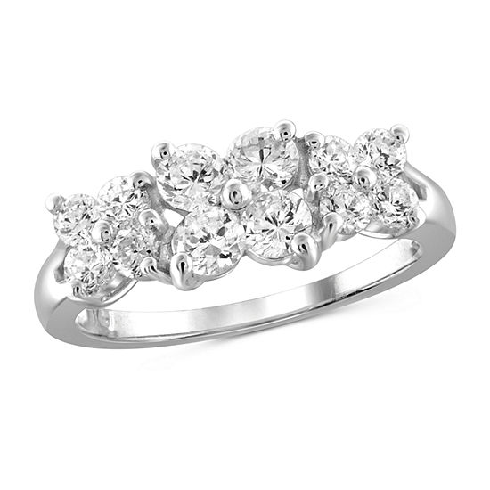 Womens 2 1/4 CT. T.W. White Cubic Zirconia Sterling Silver Cocktail Ring