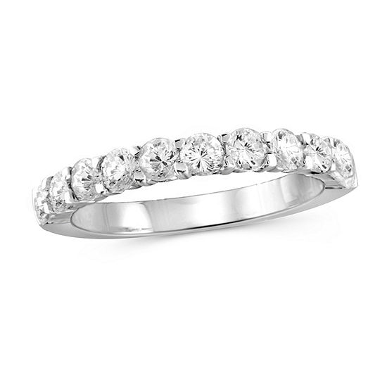 Womens 2 1/4 CT. T.W. White Cubic Zirconia Sterling Silver Band