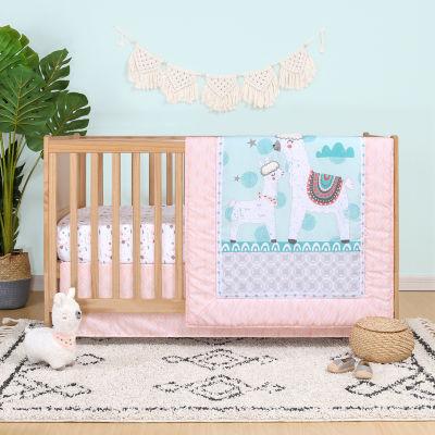 Belle Llama Love 4-pc. Crib Bedding Set