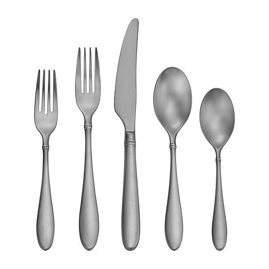 Craft Kitchen Satin Arlo 45 Pc Flatware Set