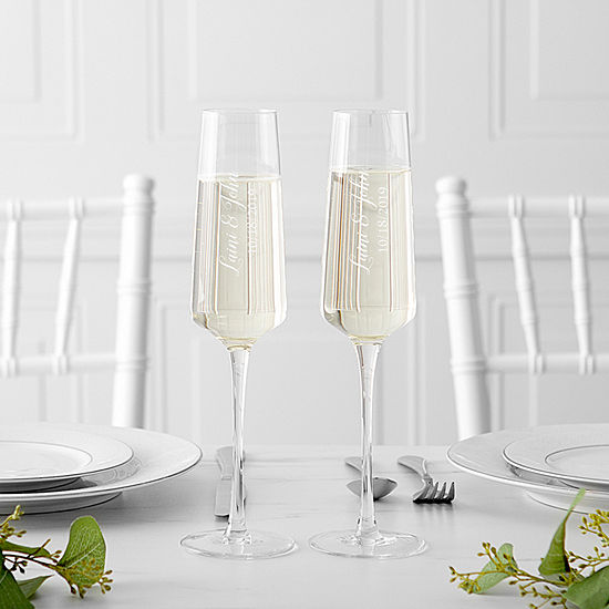 Cathy's Concepts Personalized 2-pc. Personalized Champagne Flutes