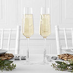 Cathy's Concepts Mr & Mrs Wedding Champagne Estate Glasses; Set Of 2 2-pc. Personalized Champagne Flutes