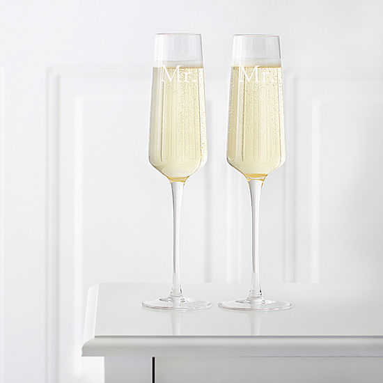 Cathys Concepts Mr Mr Wedding Champagne Estate Glasses Set Of 2 2 Pc Personalized Champagne Flutes