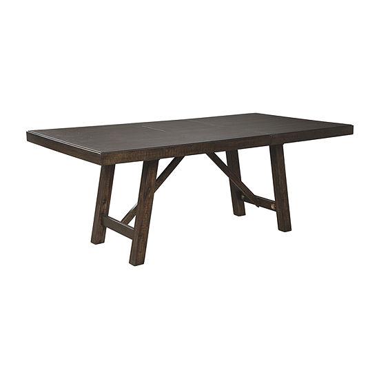 Signature Design by Ashley® Rokane Rectangular Wood-Top Dining Table