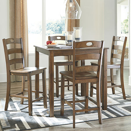 Signature Design by Ashley Hazelteen 5-pc. Counter Height Square Dining SetSignature Design by Ashley Hazelteen 5-pc. Counter Height Square Dining Set