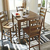 Signature Design by Ashley Hazelteen 5-pc. Counter Height Square Dining Set