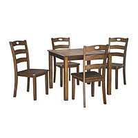 Deals on Signature Design by Ashley Hazelteen 5-Piece Square Table Dining Set