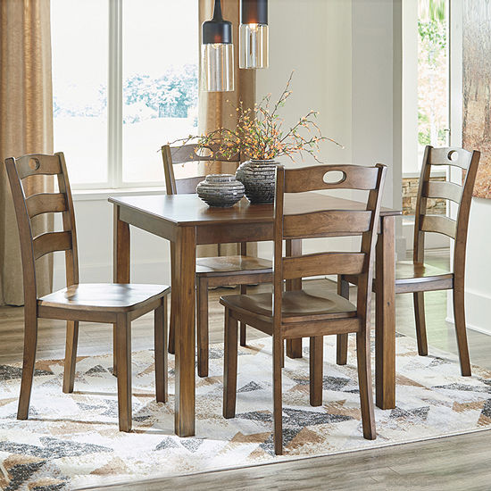 Signature Design by Ashley® Hazelteen 5-Piece Square Table Dining Set