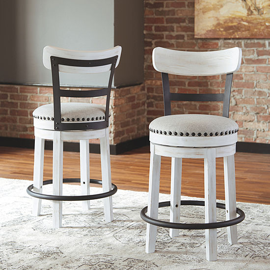 Signature Design by Ashley Valebeck Counter Height Swivel Bar Stool