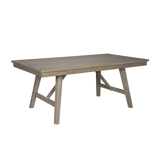 Signature Design by Ashley Aldwin Rectangular Wood-Top Dining Table