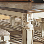 Signature Design by Ashley® Realyn Rectangular Wood-Top Dining Table