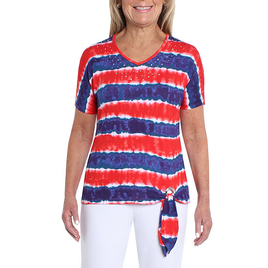 Cathy Daniels Nautical-Womens V Neck Short Sleeve T-Shirt