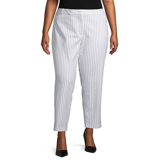 Liz Claiborne Emma Ankle Double Cotton Average Inseam - Plus