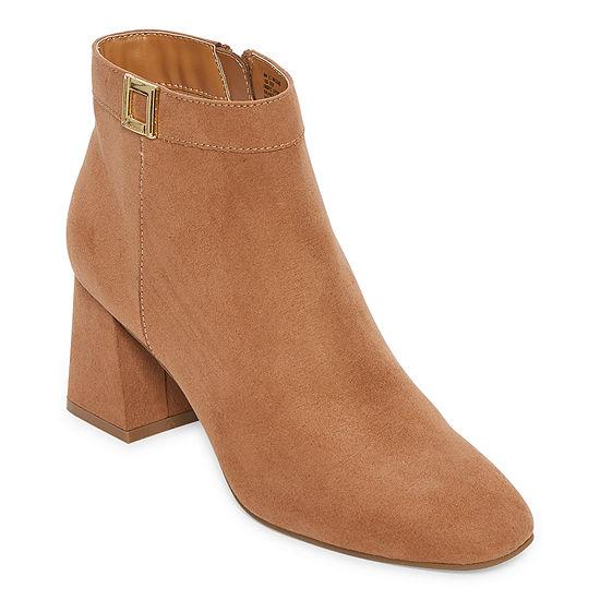 Liz Claiborne Womens Macomb Booties Block Heel