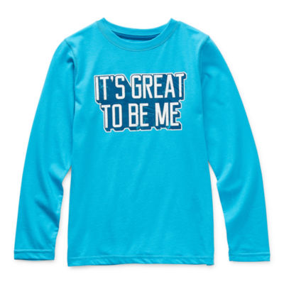 Thereabouts Little & Big Boys Crew Neck Long Sleeve Graphic T-Shirt