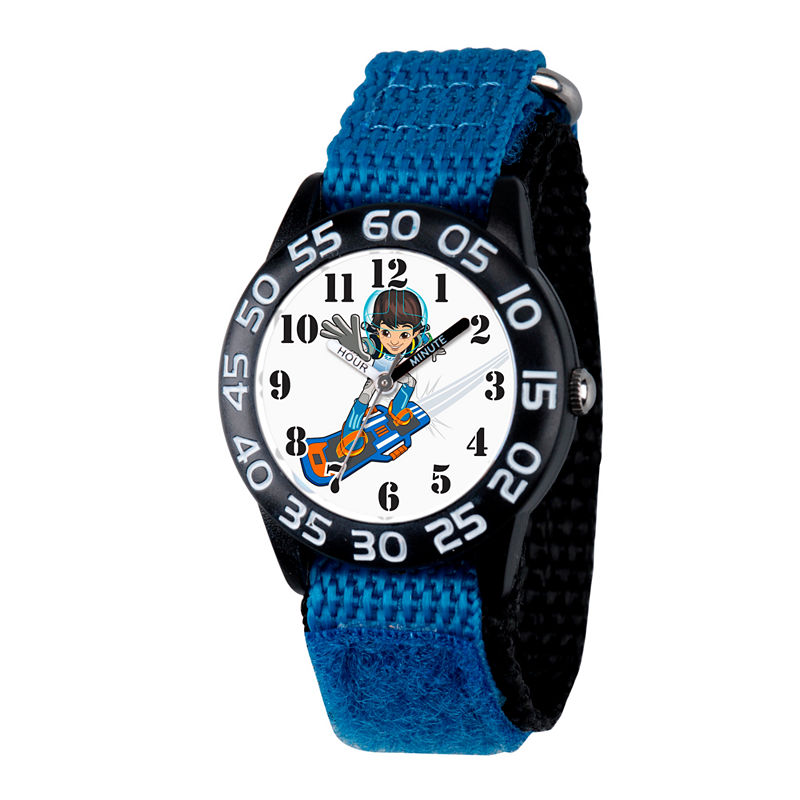 Disney Boys Blue and Black Miles From Tomorrowland Time Teacher Strap Watch W003045