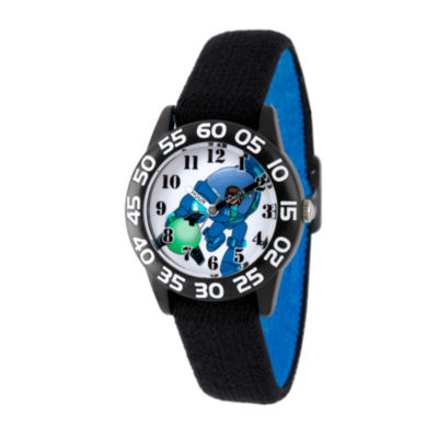 Disney Boys Black Miles From Tomorrowland Time Teacher Strap Watch W003050