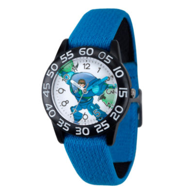 Disney Boys Blue and White Miles From Tomorrowland Time Teacher Strap Watch W003058