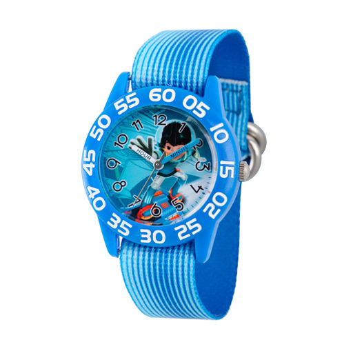 Disney Boys Blue Miles From Tomorrowland Time Teacher Strap Watch W003060