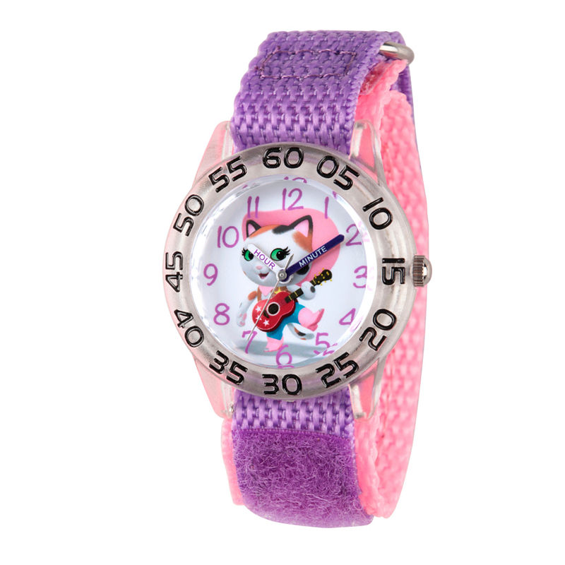 Disney Girls Purple Sheriff Callie Time Teacher Strap Watch W003079