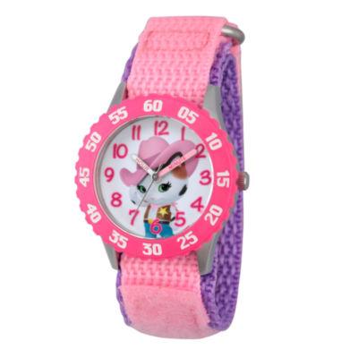 Disney Girls Pink Sheriff Callie Time Teacher Strap Watch W003088